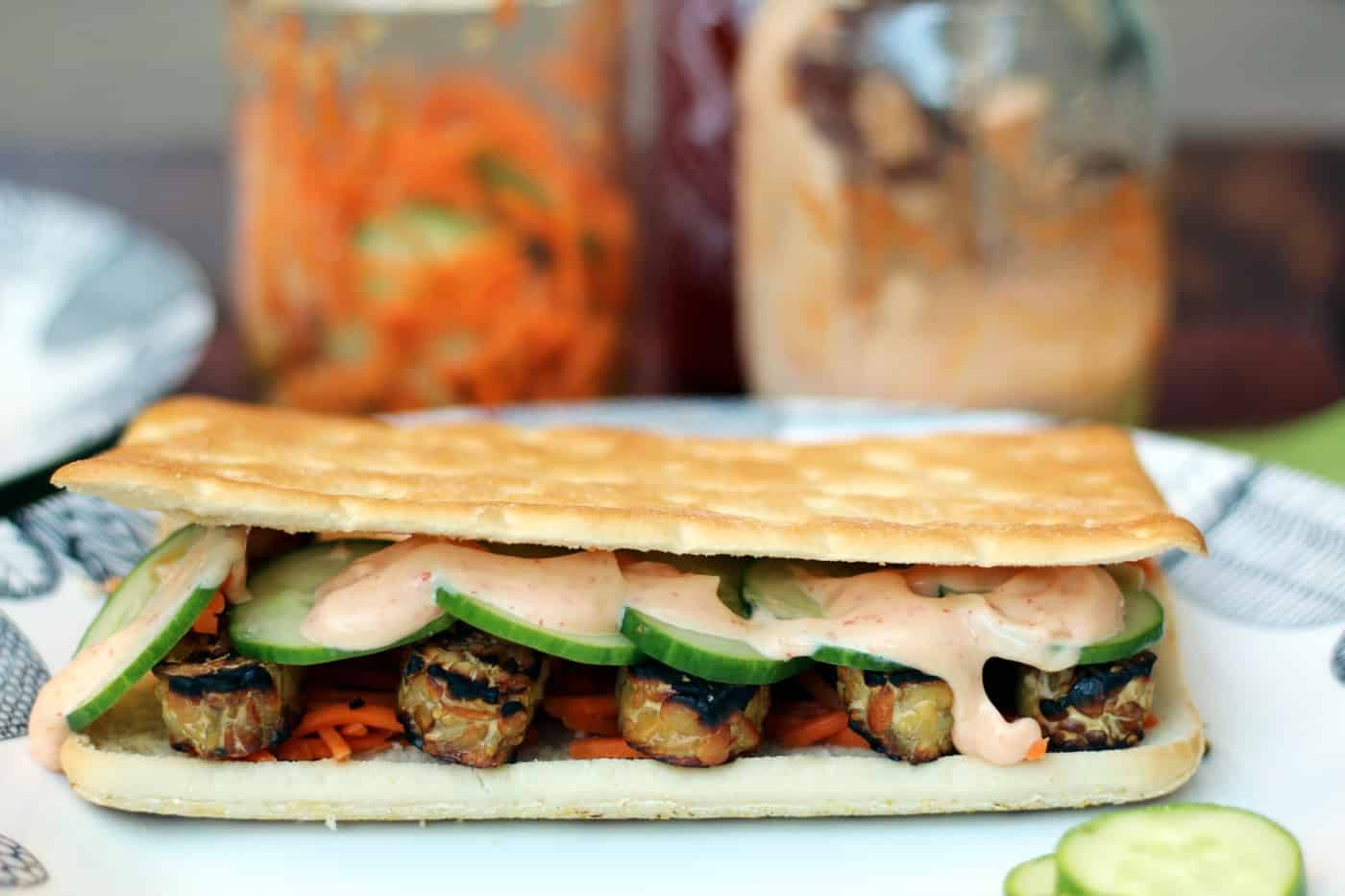 Grilled Vegan Tempeh Banh Mi Recipe