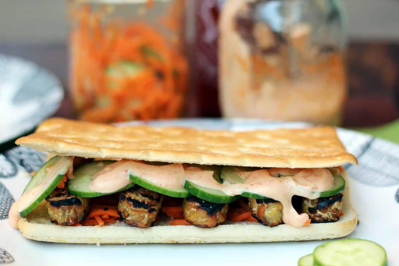 Grilled Vegan Tempeh Banh Mi Recipe