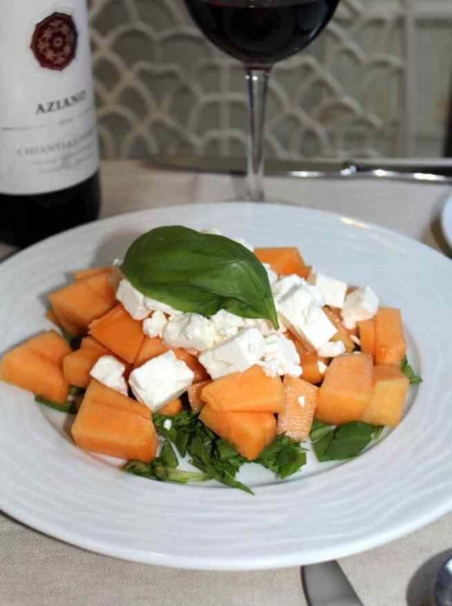 Feta and melon