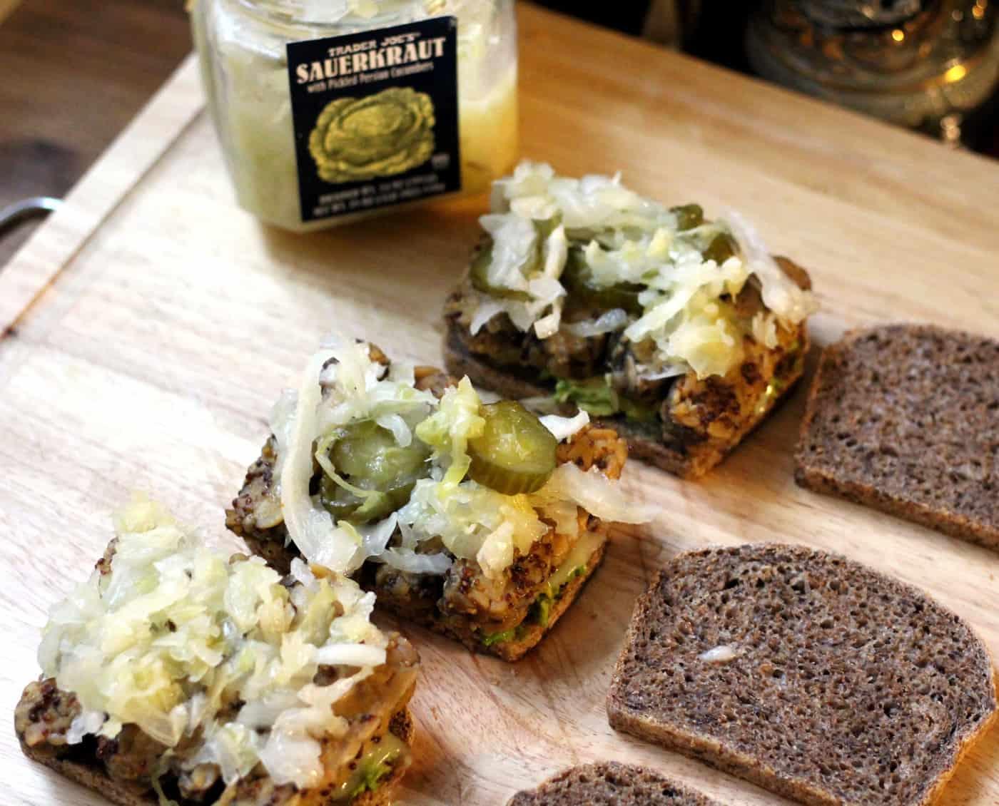 Oktoberfest Tempeh Sandwich