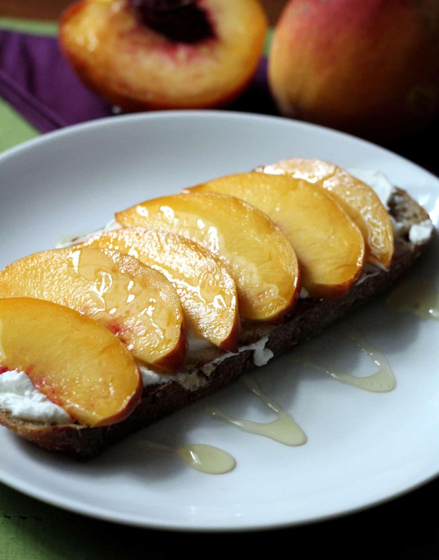 End-of-Summer Ricotta Peach Toast