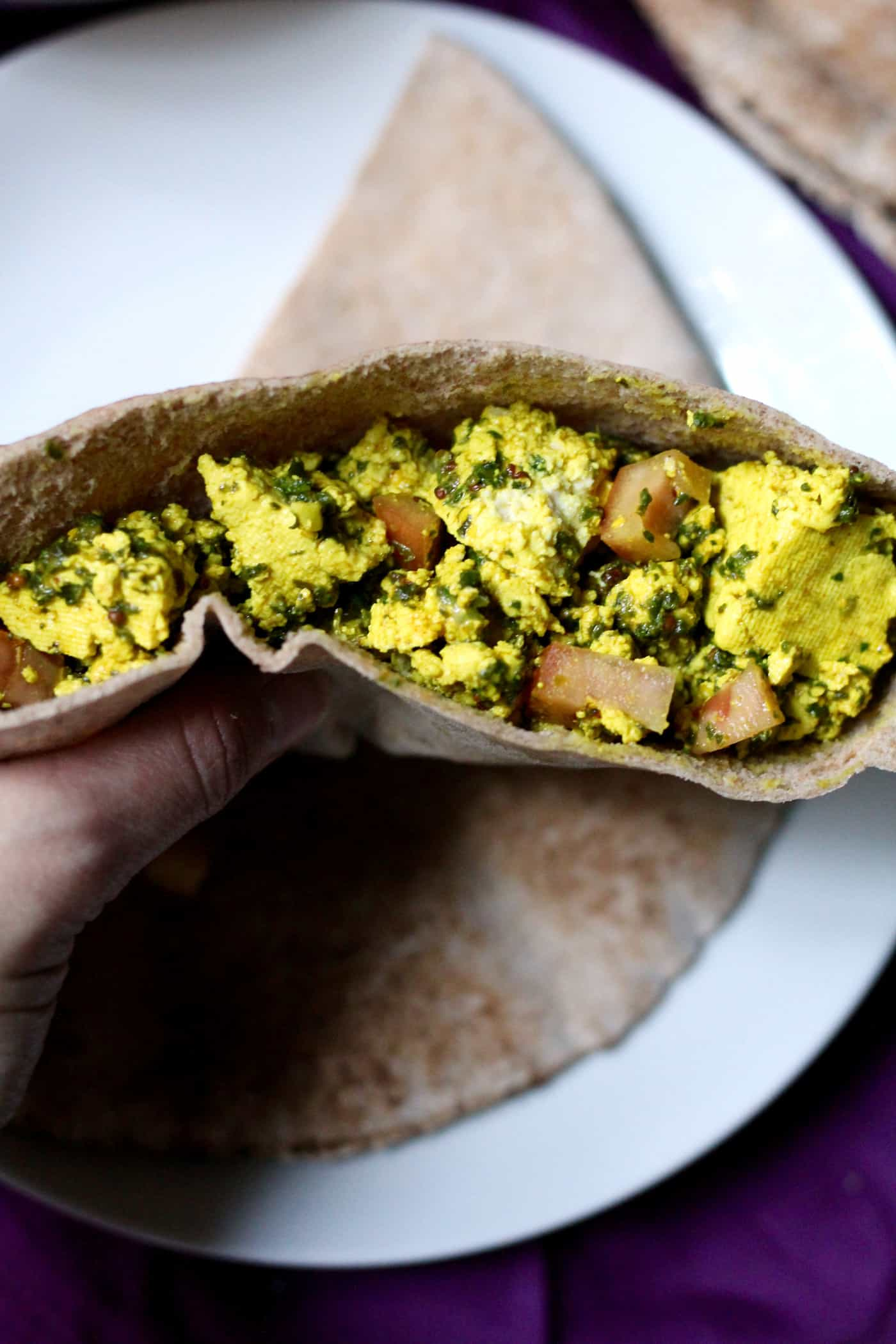 Scrambled Tofu Pita Pockets