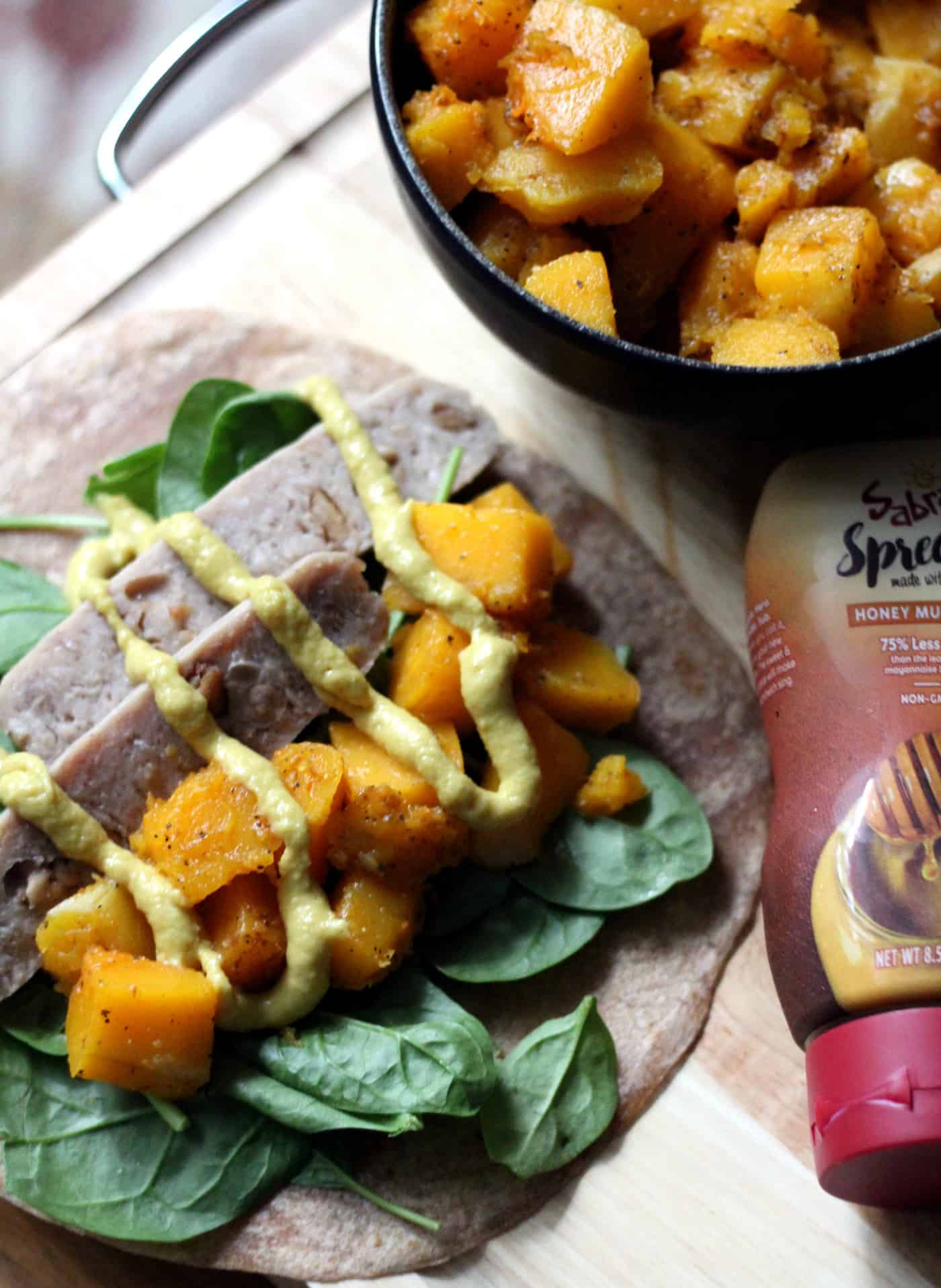 Maple Chicken Sausage and Butternut Squash Wrap