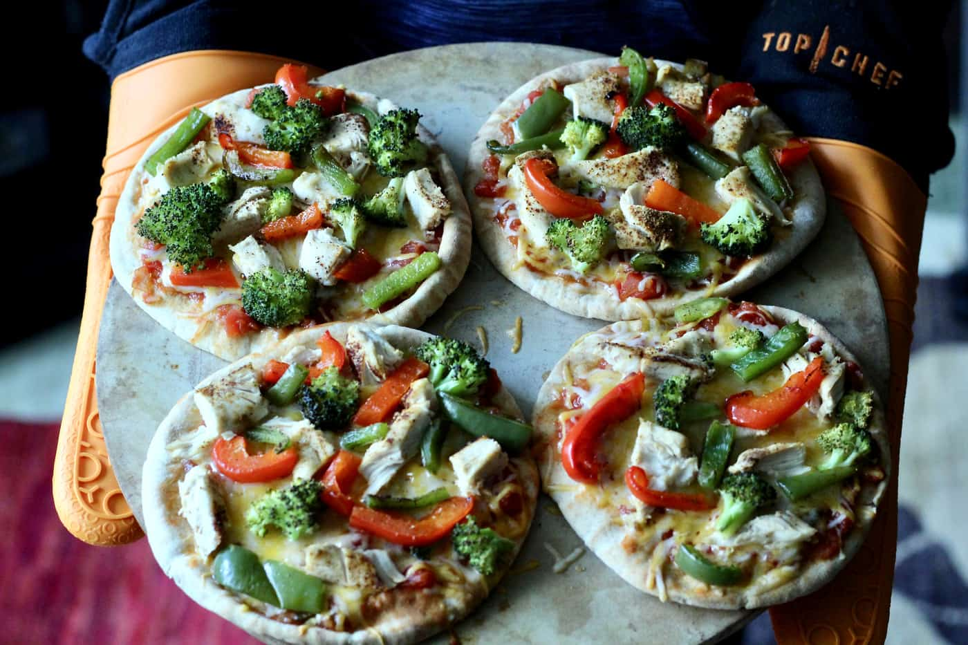 Chicken Fajita Pita Pizza