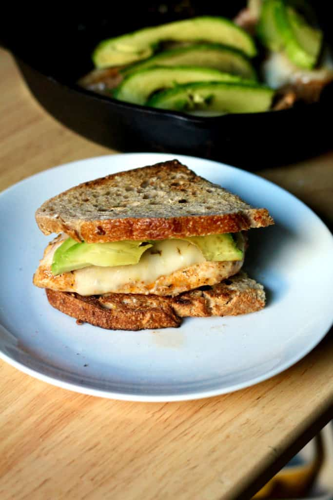 Grilled avocado fiesta chicken sandwich