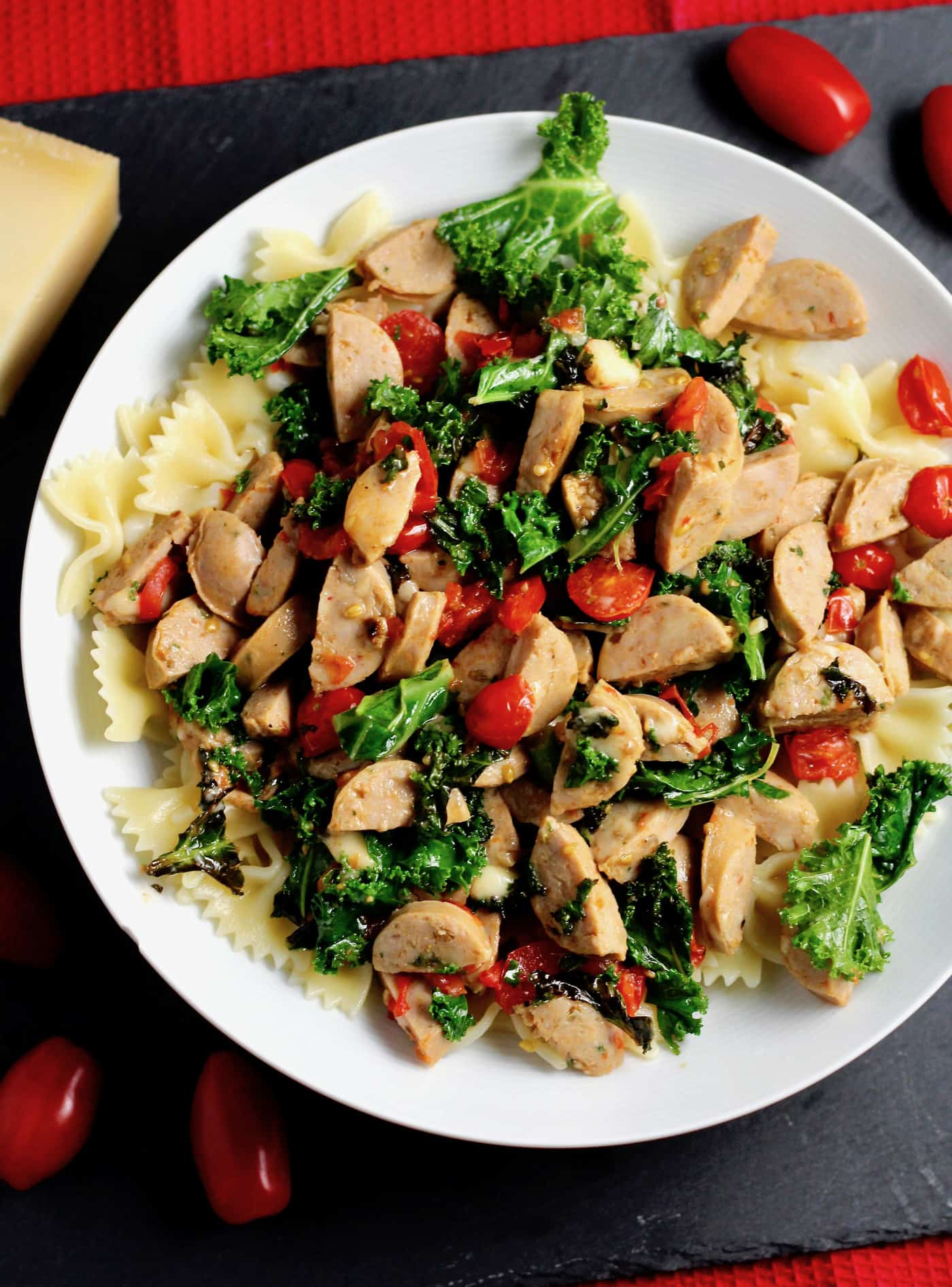 Simple Kale and Chicken Sausage Pasta