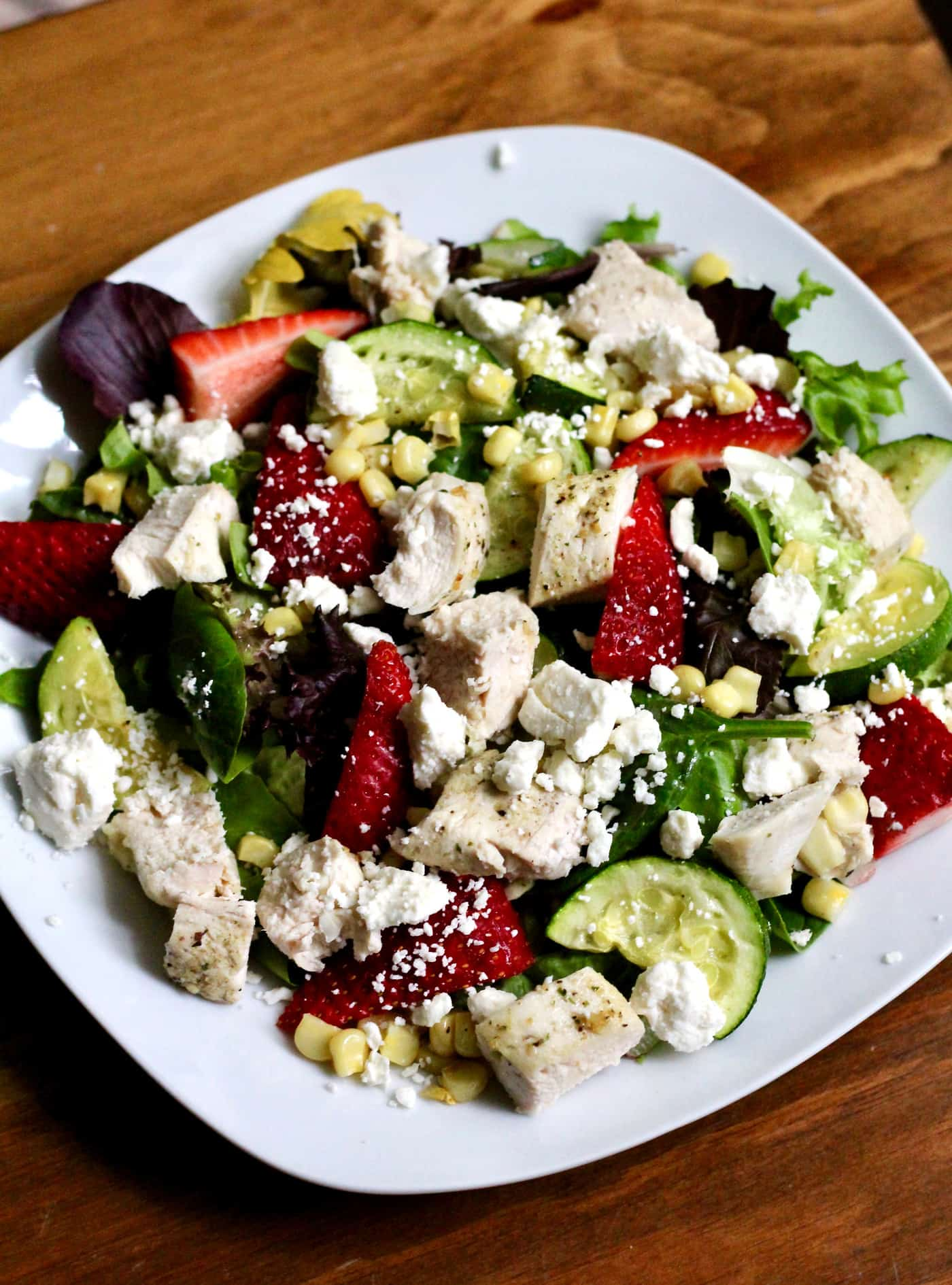 Chicken and Strawberry Summer Salad