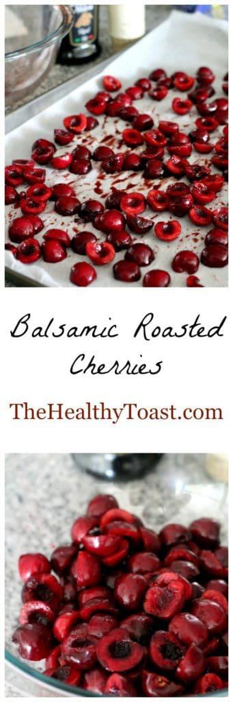 Balsamic roasted cherries pinterest image
