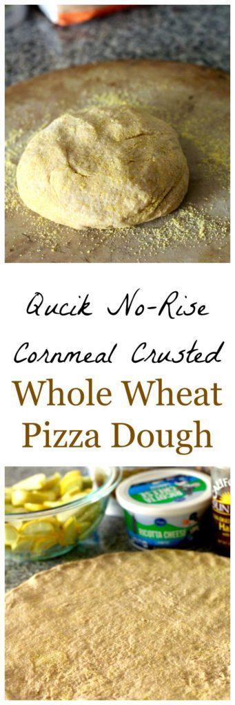 Quick No-Rise Cornmeal-Crusted Whole Wheat Pizza Dough