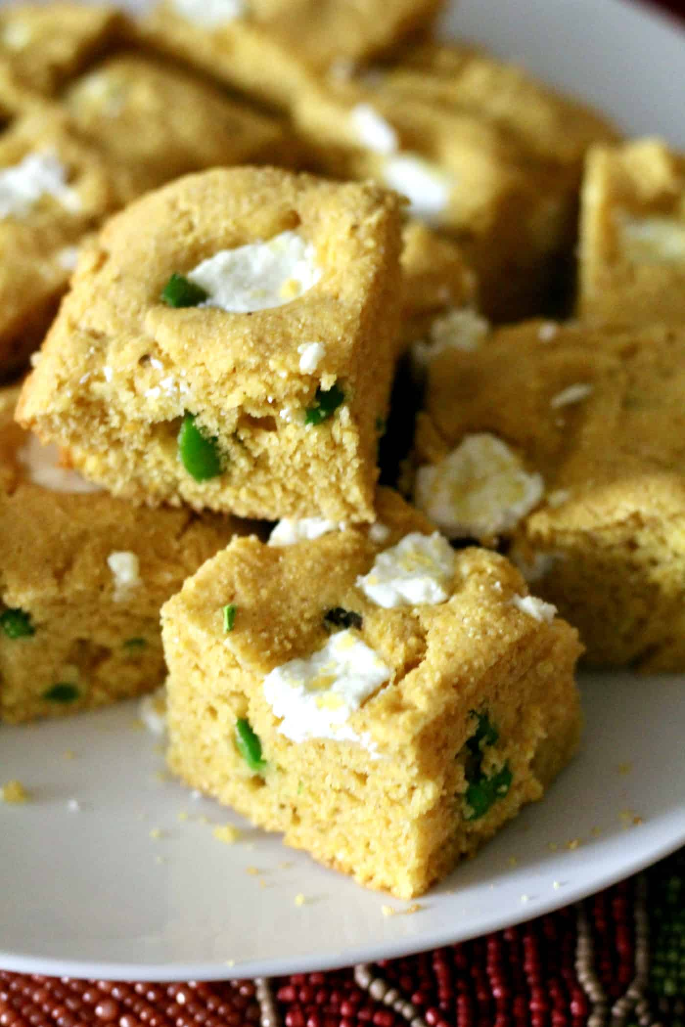 Green Chili and Goat Cheese Cornbread
