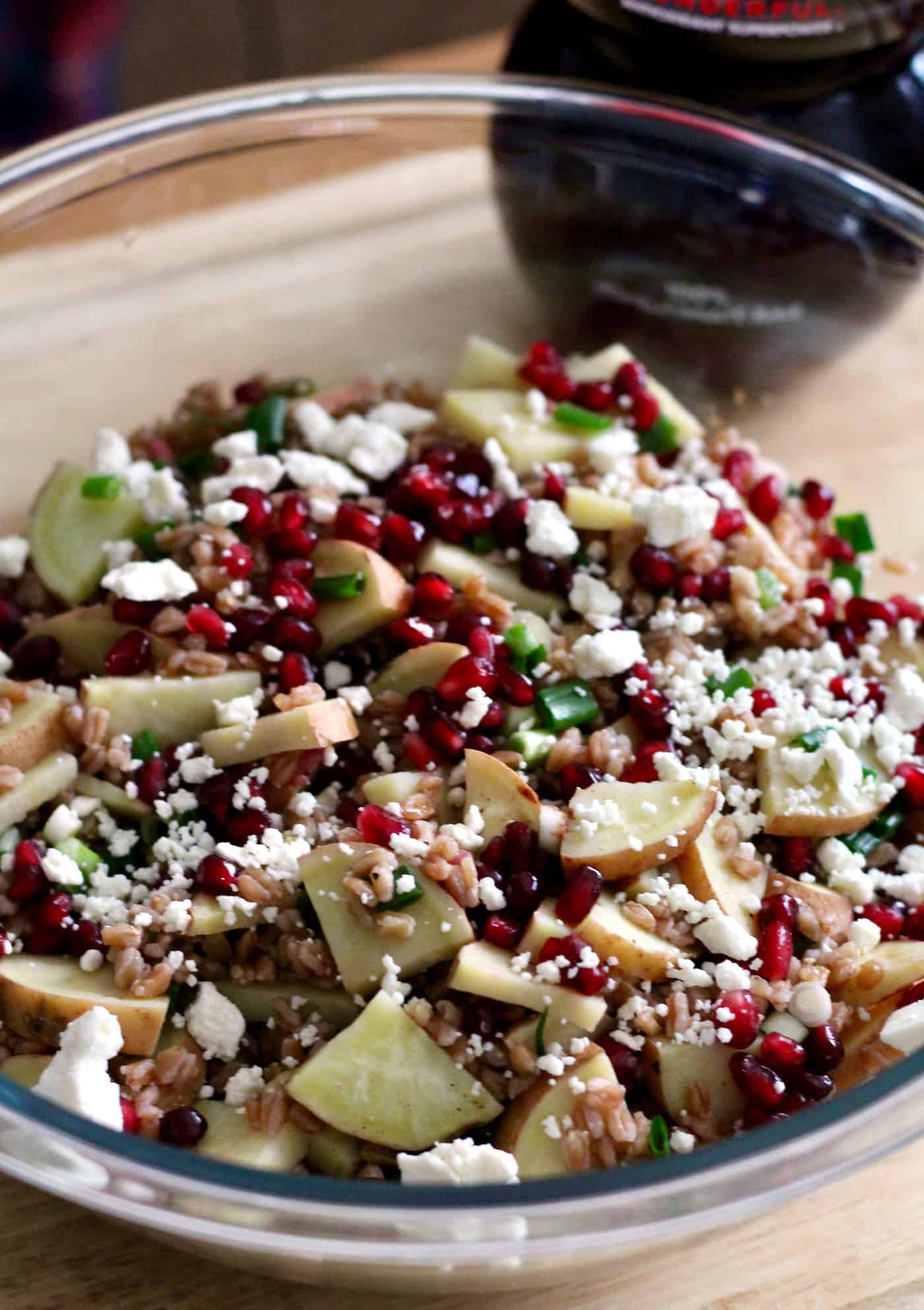 Pomegranate Sweet Potato Farro Bowls