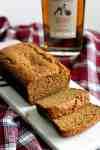Whole wheat bourbon banana bread sliced
