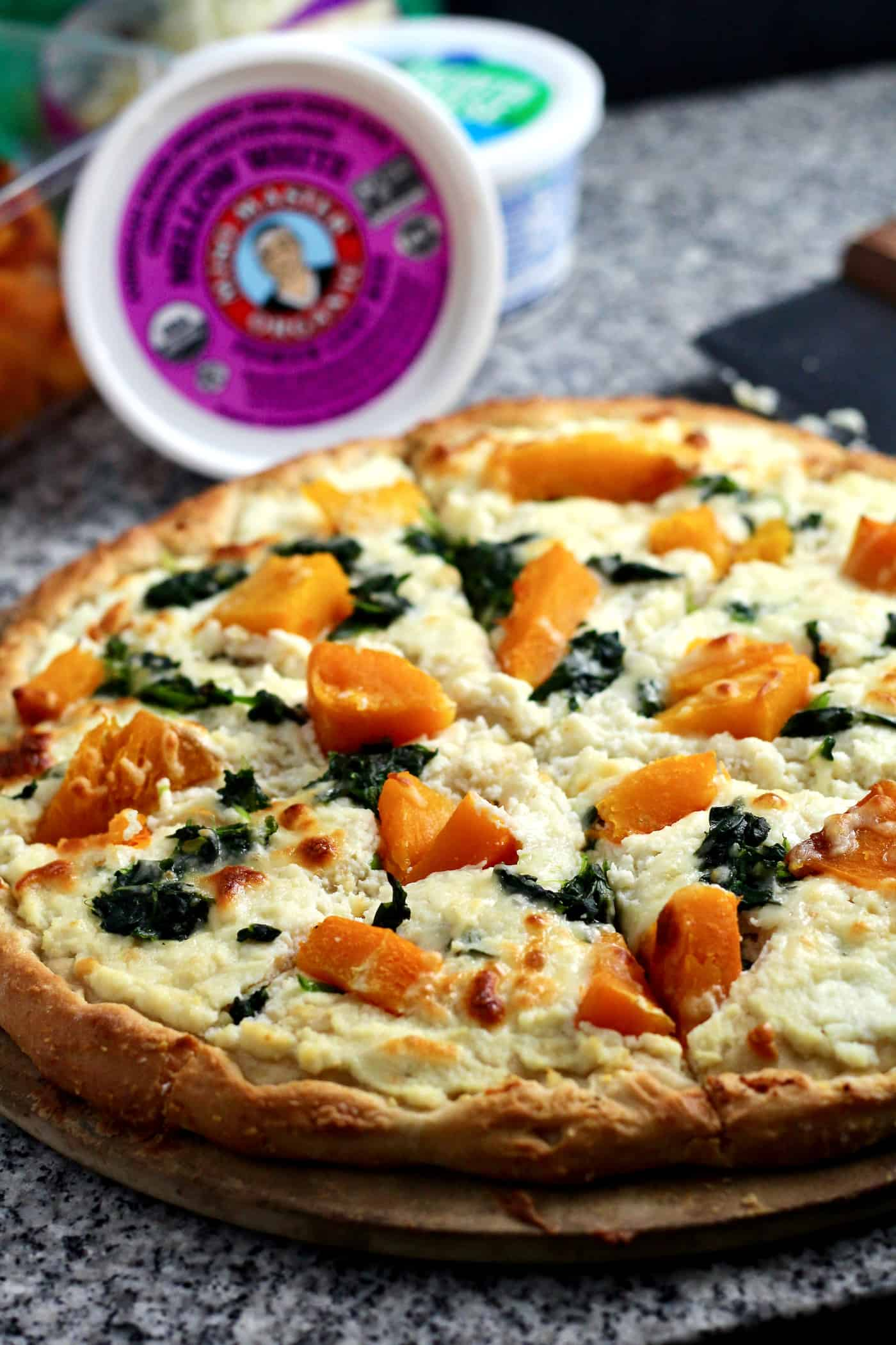 Miso-Ricotta Pizza with Roasted Butternut Squash