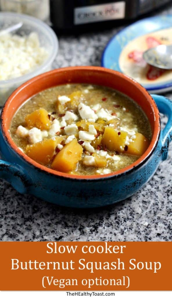 Slow-Cooker Butternut Squash Soup (vegan-friendly)