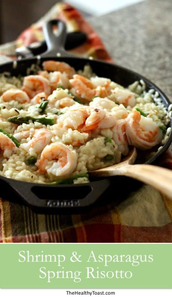 Healthy Spring Shrimp and Asparagus Risotto