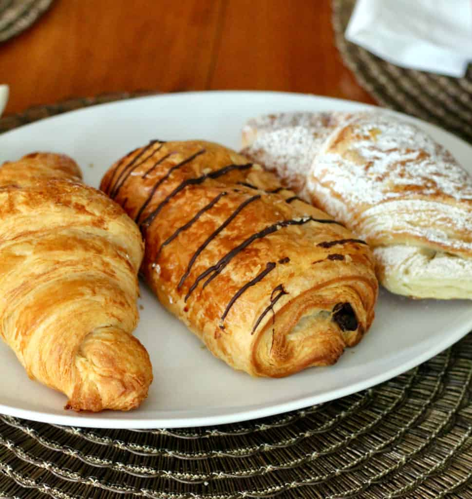 Plate of croissants