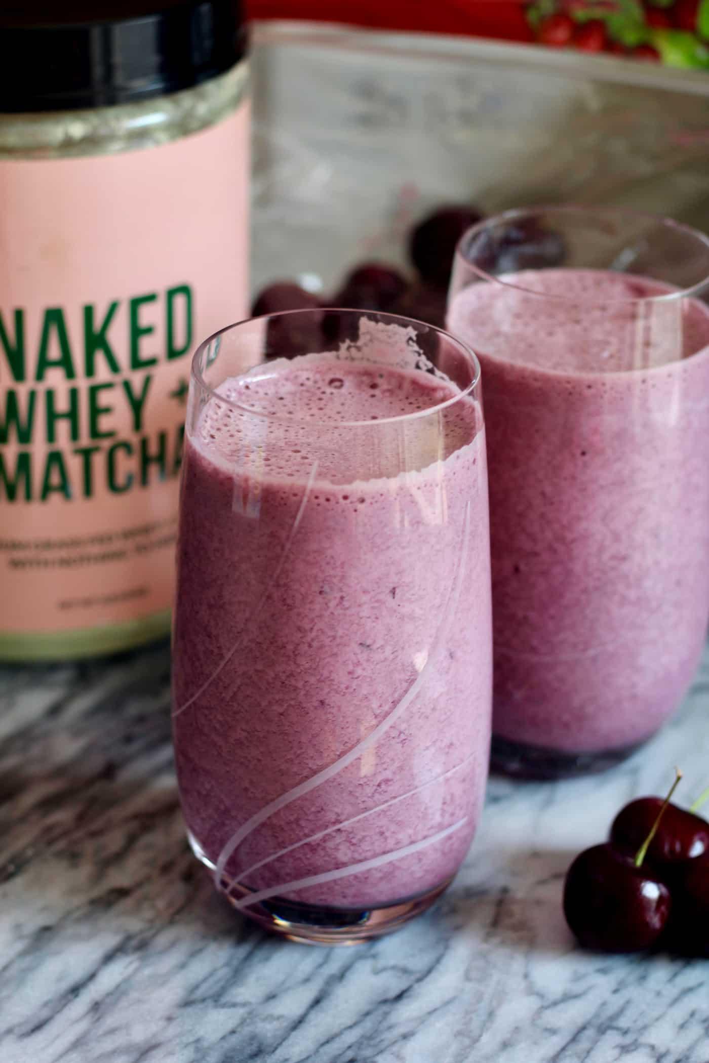 Cherry Matcha Protein Shake