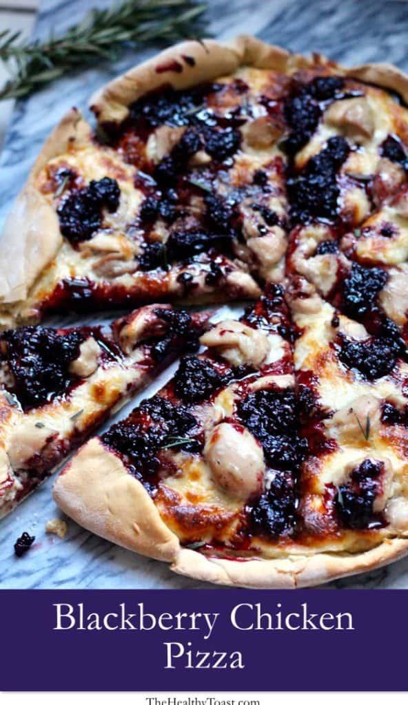 Blackberry chicken pizza pinterest image