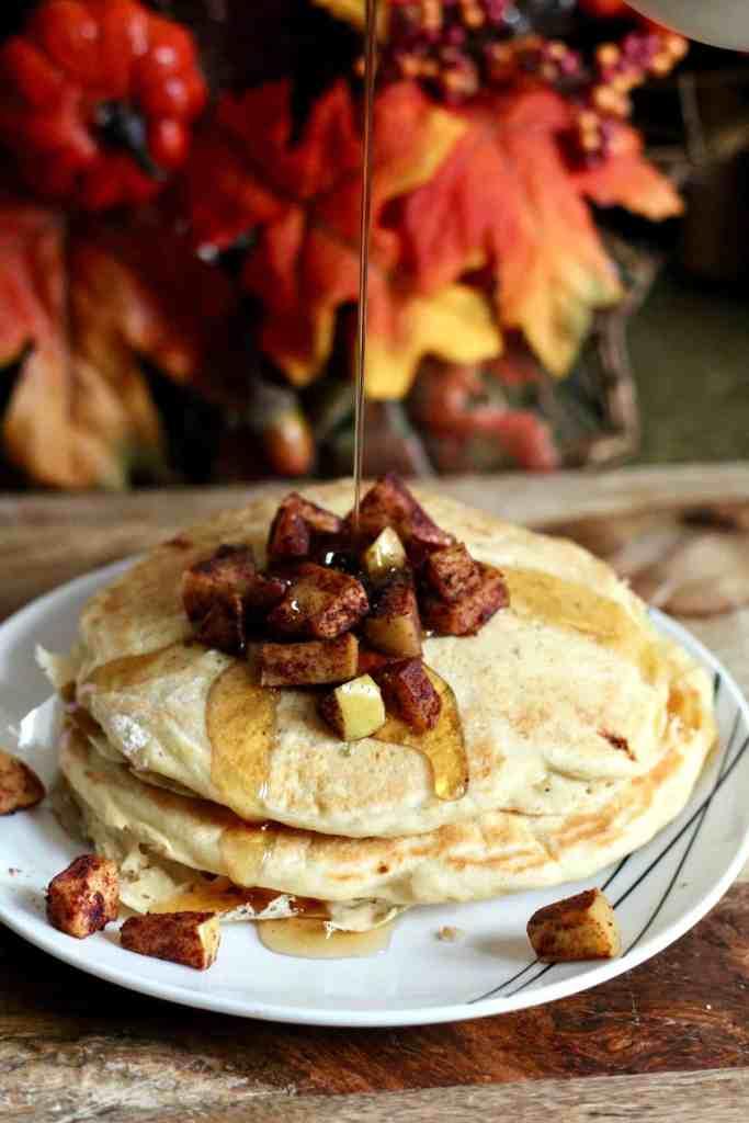 Greek Yogurt Apple Pancakes for Two