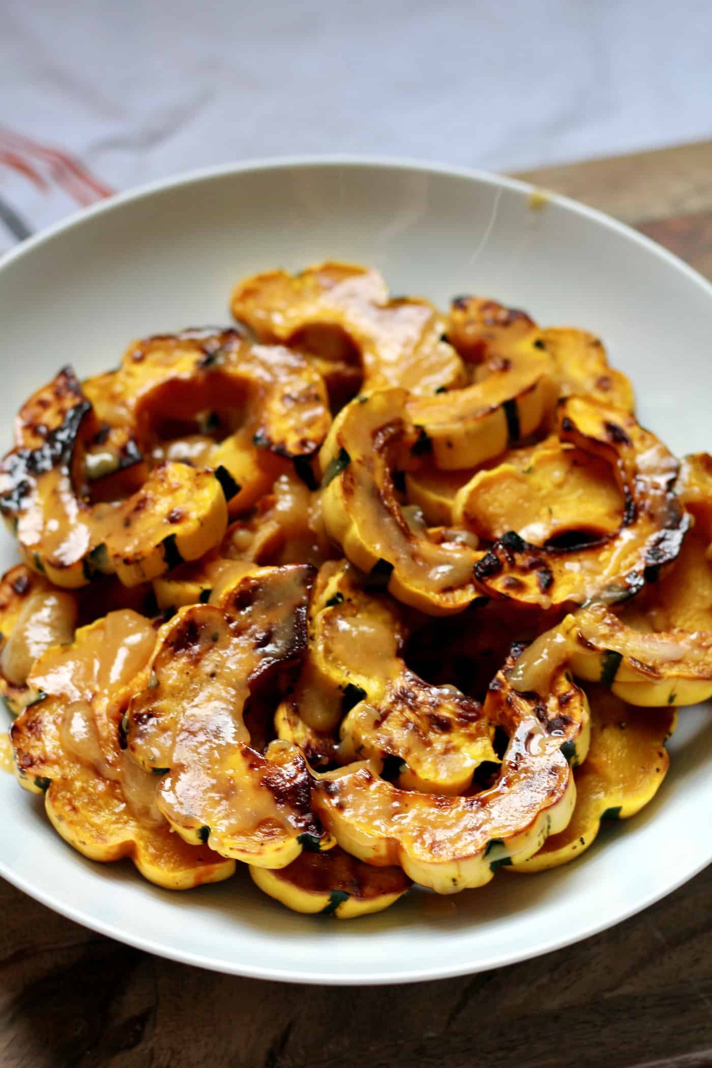 Sweet and Salty Miso Delicata Squash