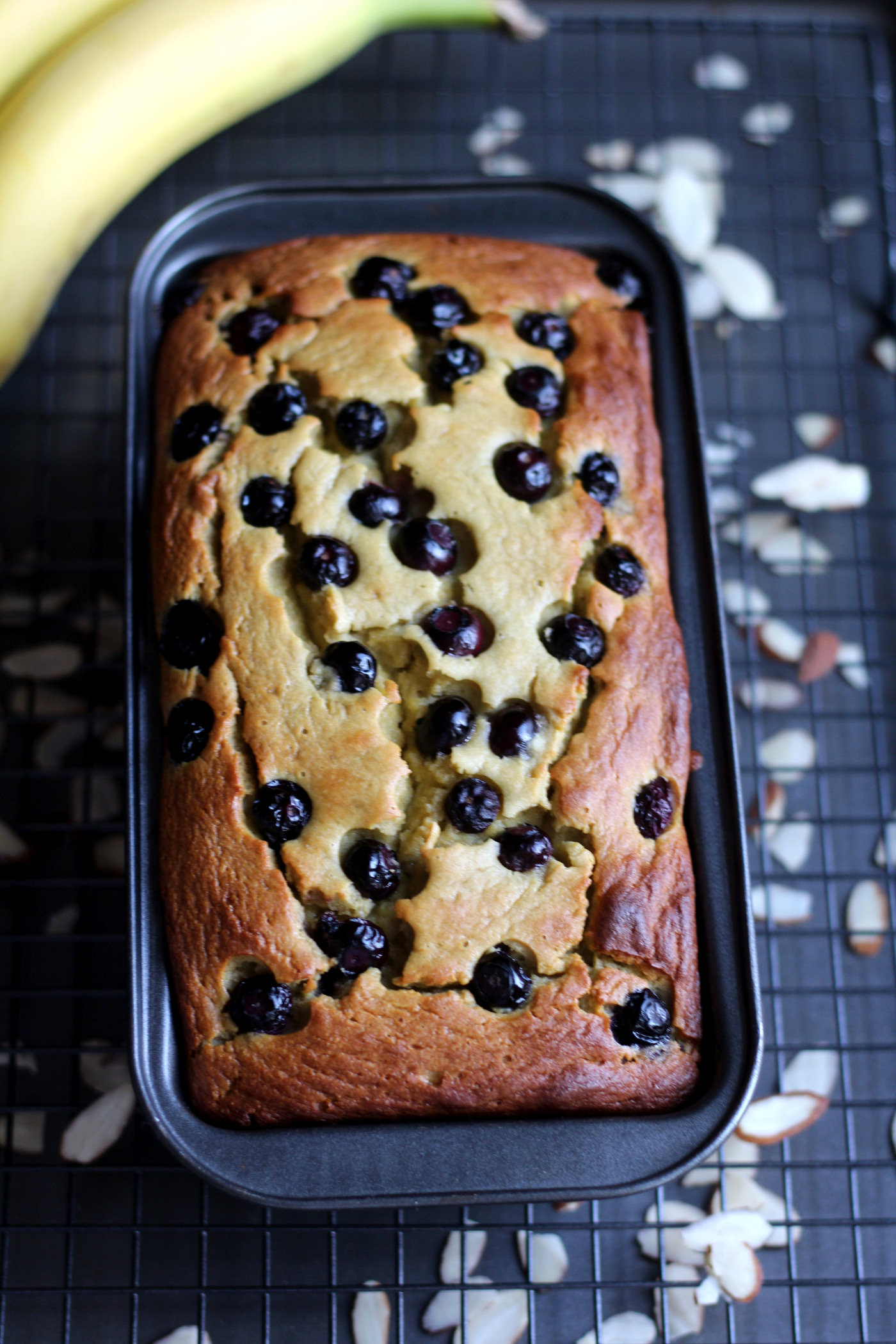 Almond Flour Blueberry Banana Bread
