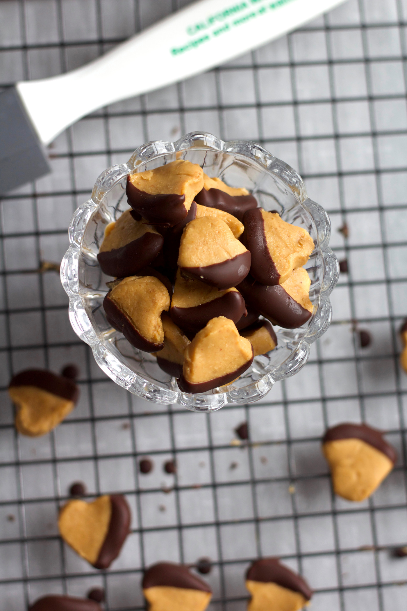 Chocolate Dipped Peanut Butter Hearts
