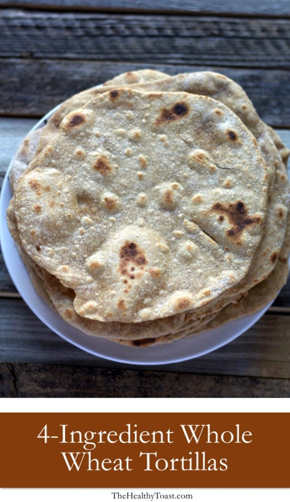 4-ingredient whole wheat tortilla Pinterest image