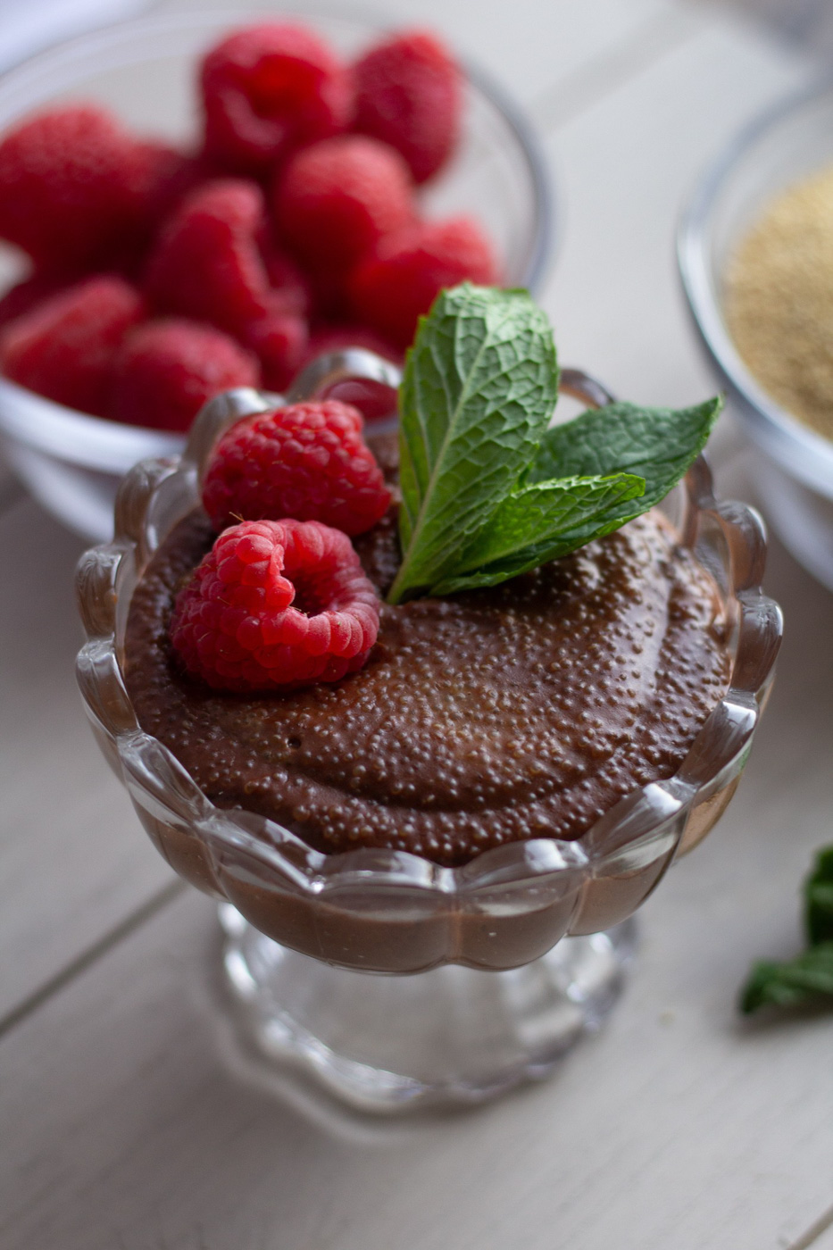 Dark Chocolate Amaranth Pudding