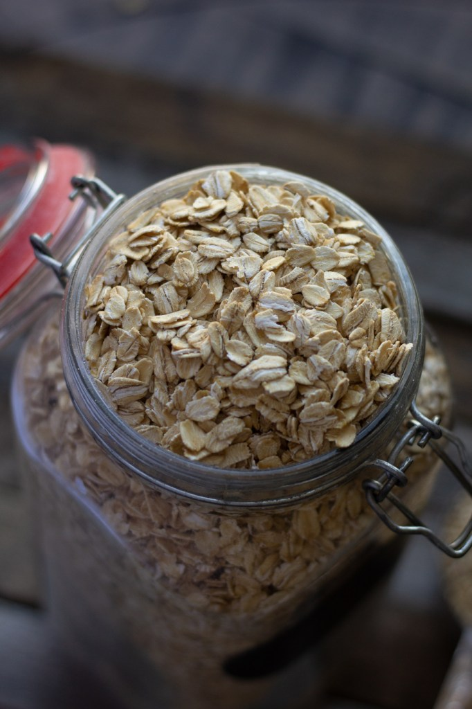 Jar of rolled oats