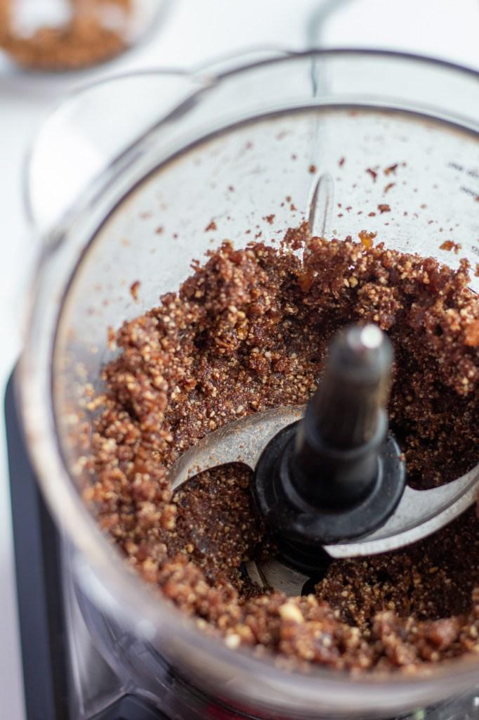Brownie batter in food processor