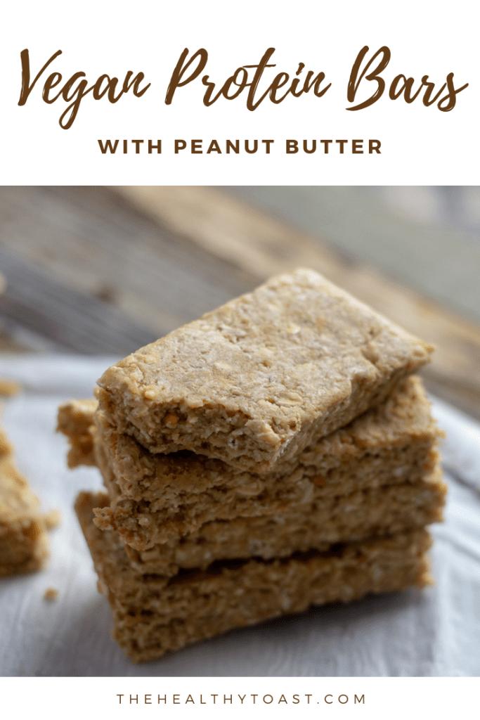 Vegan peanut butter protein bars Pinterest image