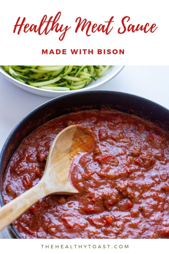 Healthy Meat Sauce pinterest image