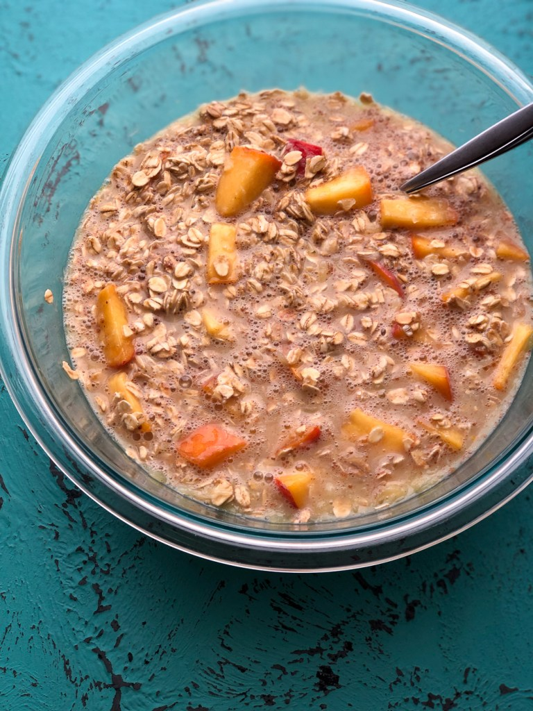 Healthy Peach Baked Oatmeal