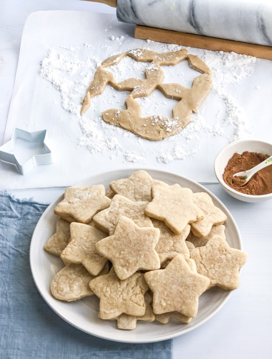 Plate of chai sugar cookies