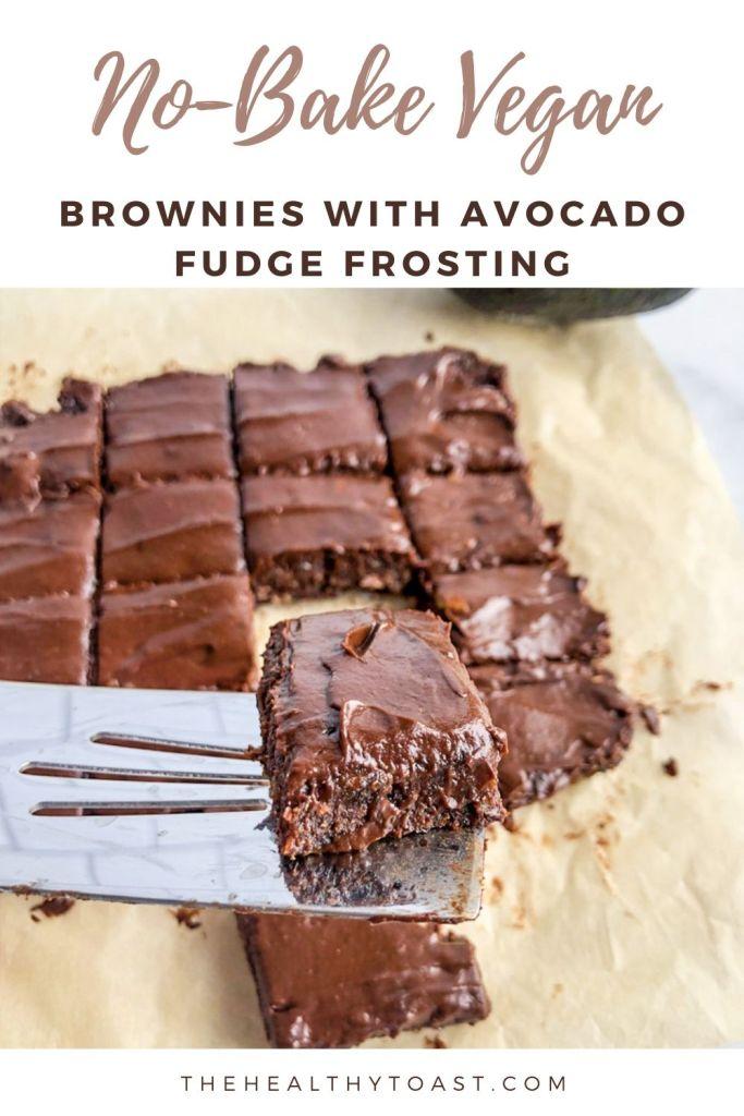Raw vegan brownie pinterest image