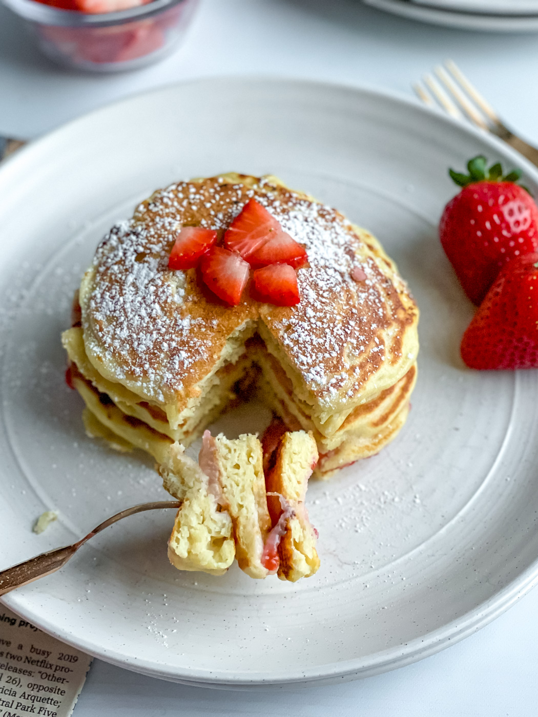 The Best Healthy Strawberry Pancake Recipe