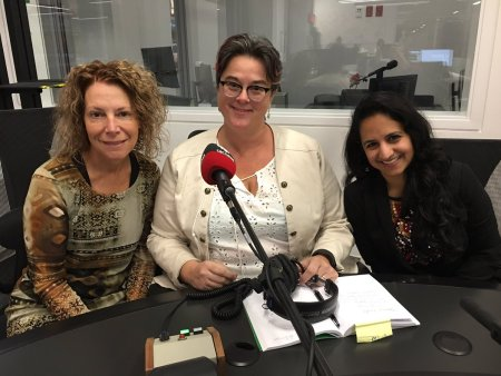 Amanda Lynn Stubley with Romayne Fullerton Smith and Jasmine Jasani at CBC London Ontario