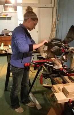 Building My Weaving Loom - Sawing
