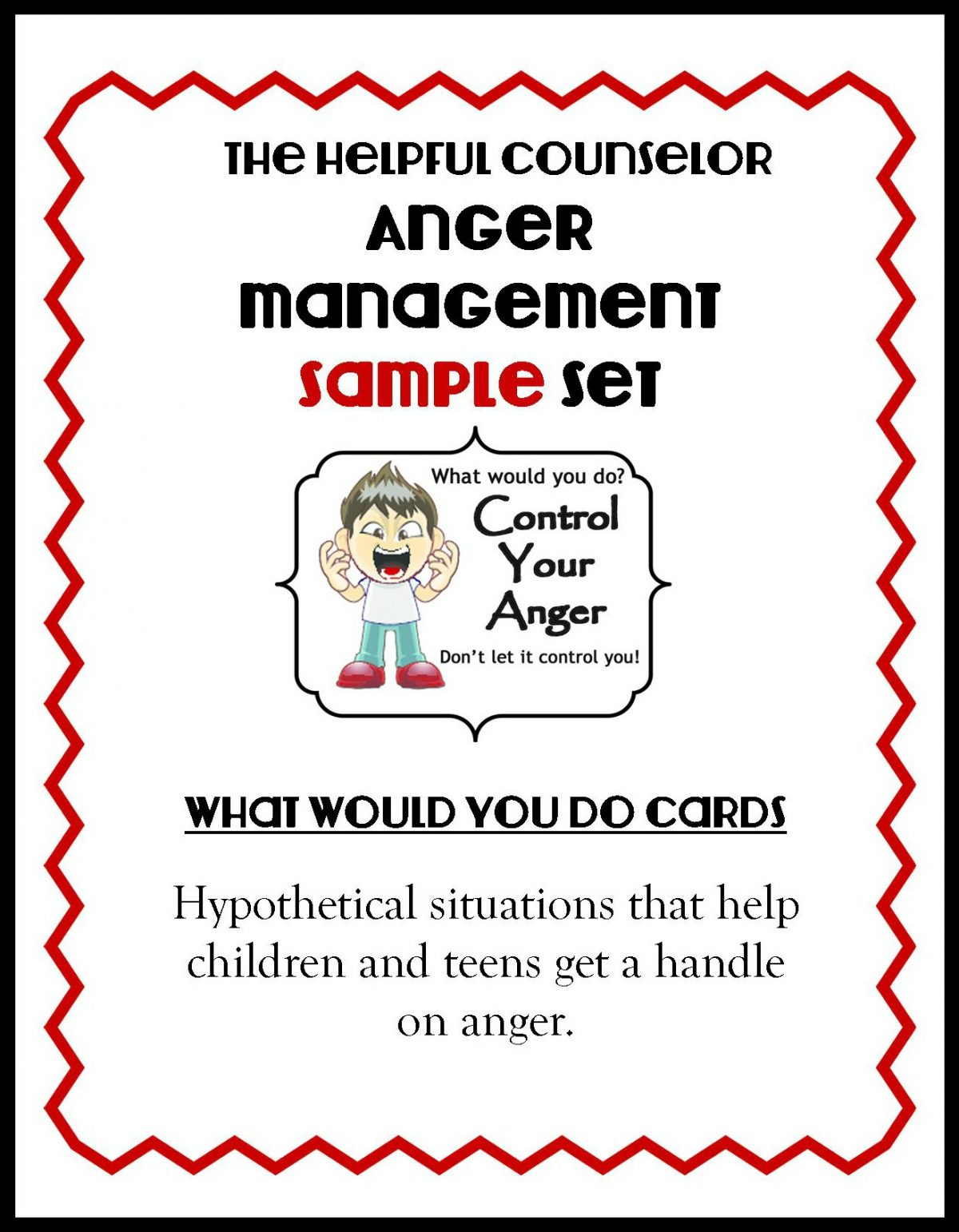 Buy Online Anger Management Activity