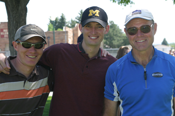 The winning team in Saturday's mini triathlon, sponsored by Eastern Rio Blanco Metropolitan Recreation and Park District, was from left: John Strate, Matt Dupire and Matt Cisar. There were 33 competitors in the event. Last year's first-time mini triathlon had 24 participants.
