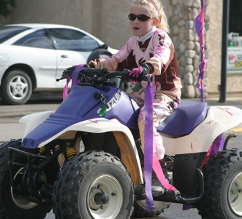 Marlena Miller, who rode in last year's Do-Da Parade, will participate in Saturday's Rangely Racers Car Show.