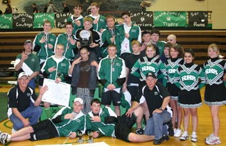 Rangely's wrestling team celebrated  after winning its own invitational tournament for the third year in a row. The Panthers wrestle at home today against Grand Valley.