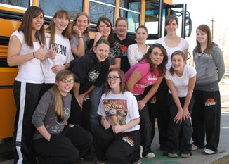 Members of Rangely's girls' basketball team departed March 4 for the regional tournament in Durango. The Lady Panthers had their season come to an end with a first-round loss to Lutheran Parker, 44-38. See more regional basketball coverage on Pages 9A and 10A.