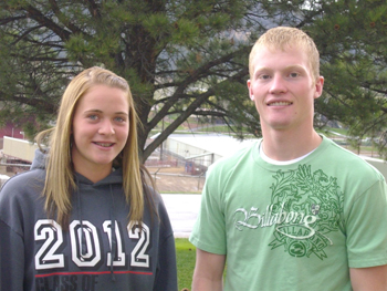 ALL-CONFERENCE ... Meeker's Kathryn Doll and Brock Campbell were named all-conference in track. They competed at regionals May 13 and 14.