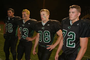 Team captains for Rangely on Friday were, from left, Brian Rector, Zakk Wenzel, Cole Barlow and Justin Goddard.