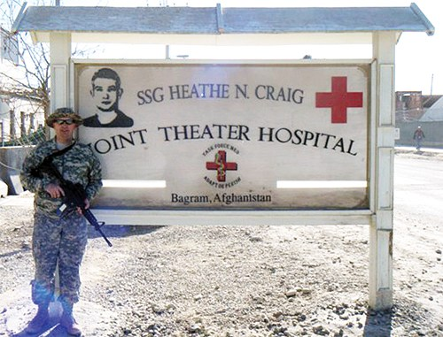 Brice Glasscock is currently a medic in the 928th ASMC and was deployed to Afghanistan in January 2011. His squad is currently working at B.A.F (Baghram Air Force Base) as flight and emergency room medics in the busiest facility in Afghanistan, providing medical support in the middle of the conflict.