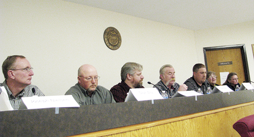 Seven candidates including Joseph Nielsen, Dave Way, John Perry, Brad Casto, Darlene Feller and René Diane Hardin will all have their name on the ballot, which has been mailed out for the April 3 municipal election. The seven candidates for three council seats all participated in a candidate forum last week, along with mayoral candidates (not pictured) incumbent Paula Davis and Frank Huitt. Please vote and return by mail or drop ballots off at town hall.