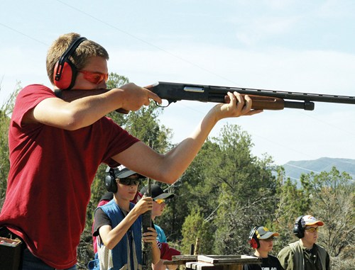 Ty Dunham won the Intermediate Shotgun 4-H Shooting Sports competition last Saturday at the Meeker Sportsman's Club.