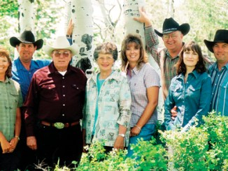 The Twin Buttes Ranch Company LLC is located in the beautiful northwest corner of Colorado. This fifth generation family-owned ranching operation dates back to the late 1880s. Dave and Cheryl took over management of the ranch in 1981 and now the ranch is managed by their sons Scott (second from left) and his wife Mikki, and Owen and his wife Michelle. The Robertsons' daughter Karen and her husband Troy are also pictured.