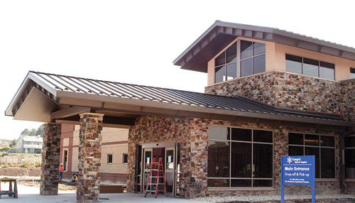 The entrance to the new Rangely District Hospital is scheduled to open Dec. 17, 2012.